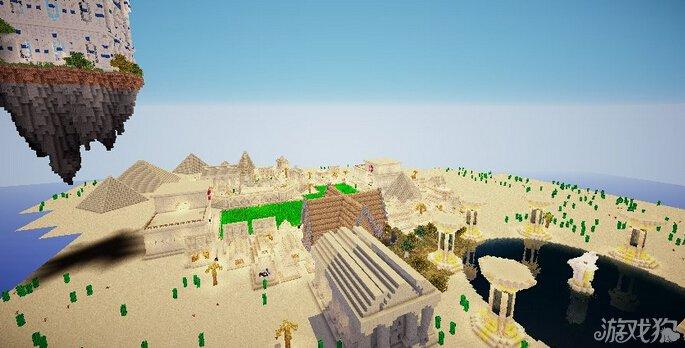 我的世界黄沙之地走入沙漠绿洲