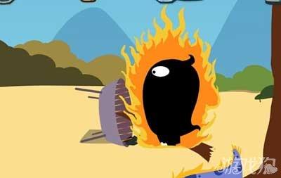 然后玩家要立刻摇晃手机,将里面的碳给摇晃出来烧死蠢蠢.