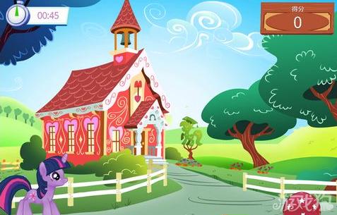 彩虹和房子画画图片