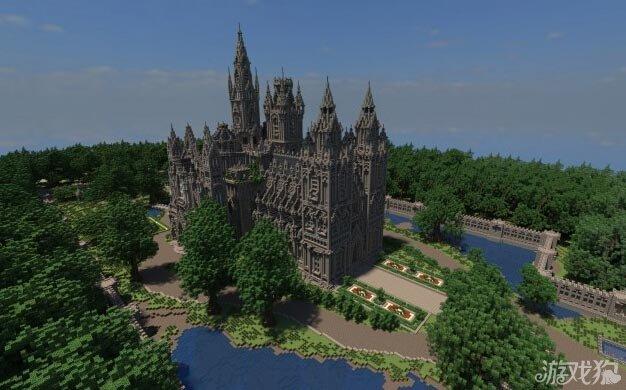 我的世界哥特式花园大教堂建筑分享