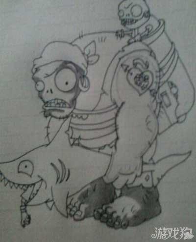 大战僵尸3海盗巨人僵尸手绘过程介绍