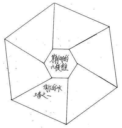冰雪奇缘女王升空释放出六棱锥结构图