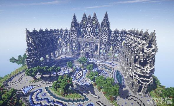 我的世界阿莱瓦秘蓝宫殿大型建筑图片