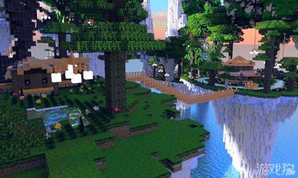 我的世界悬崖之森村落建筑群 自然景观