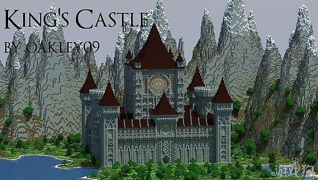 我的世界国王的城堡展示 欧式风格图片