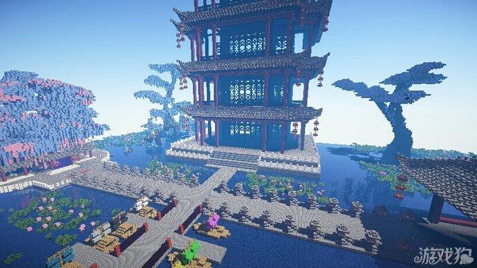 我的世界龙阁宫殿 中式风格图片