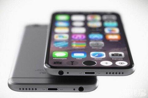 苹果iphone7无边框概念设计图曝光
