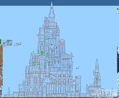 泰拉瑞亚城堡图纸建筑物制作方法_泰拉瑞亚护脚墙恶魔图片