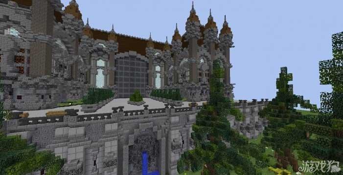 我的世界超豪华欧式别墅花园 设计