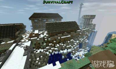 生存战争雪景小镇欧式风格小城镇作品