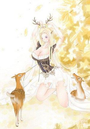 奇迹暖暖鹿后套装手绘图欣赏