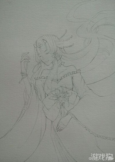 奇迹暖暖鬼姬彼岸花套装手绘图