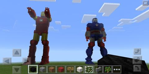 我的世界大型钢铁侠模型 钢铁爱国者