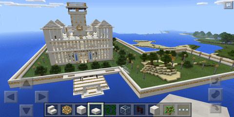 我的世界灰白色调房屋建筑 骑士庄园