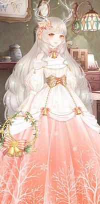 奇迹暖暖缤纷圣诞夜唯美套装,这套古典优雅又乖巧性感的欧式晚礼服