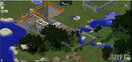 我的世界玩的就是高科技 实时网页卫星地图
