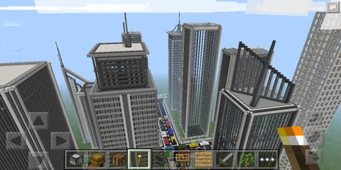 我的世界空荡荡的高楼大厦