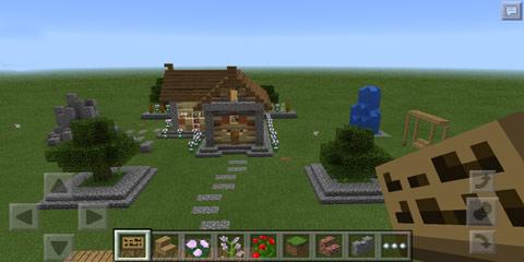 我的世界平和的小屋建筑 温馨小庄园
