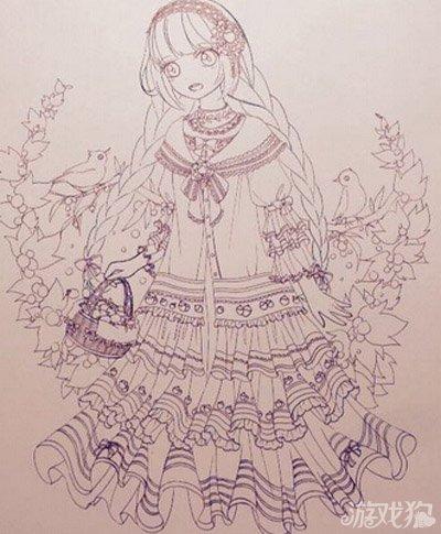 奇迹暖暖手绘采撷草莓套装欣赏