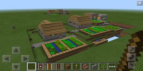 我的世界木棍点地生成简易村庄