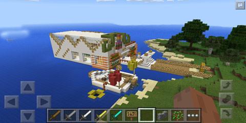 我的世界1.7.2石英小别墅怎么造