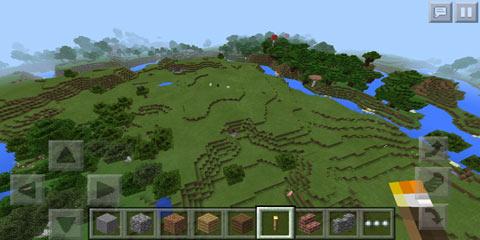 我的世界v0.14湖泊平原村庄树林