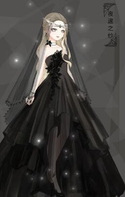 奇迹暖暖玩家自制黑色婚纱套装欣赏