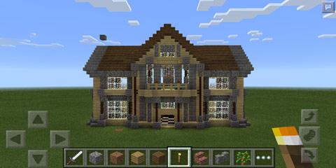 我的世界铁剑点击生成复古豪宅