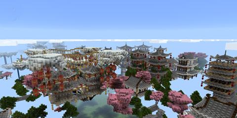 我的世界大型中国风小镇建筑 空鱼镇