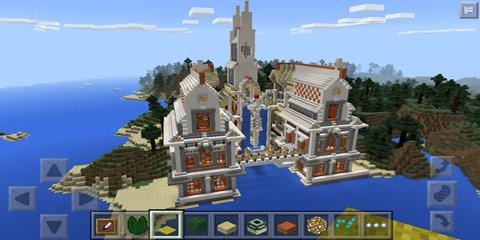 我的世界梦幻教堂模型 圣翼天使团教堂图片