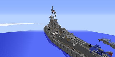 我的世界地图美国海军田纳西号战舰存档