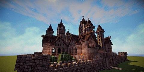 我的世界哥特式城堡 小巧精致的欧式风格图片
