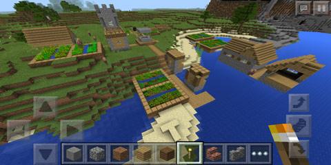 我的世界海邊的殘破小村莊