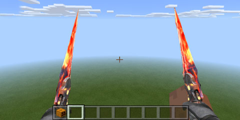我的世界火焰双剑 cf手游凤舞界面图片