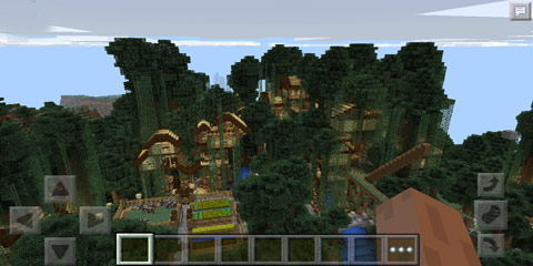 我的世界满足树屋的一切幻想 树丛小镇图片
