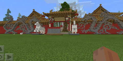 我的世界绚丽的花纹 古风建筑中国古城