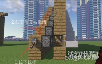 我的世界伸缩楼梯做伸缩教程建造教程mirrorop楼梯图片