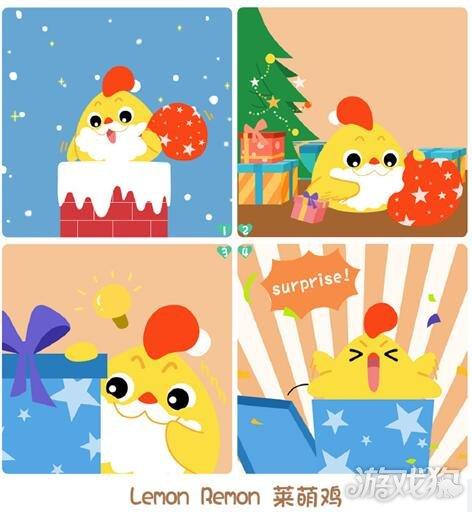 开心消消乐小动物圣诞四格美图欣赏