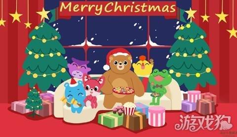 开心消消乐小动物的圣诞全家福