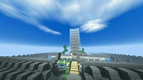 我的世界中式建筑沧波古寺 隐士之地