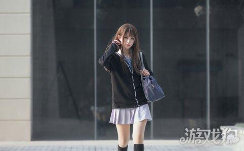 涩人阁younv_偶像大师涩谷凛校服cos图赏 气场让人想靠近