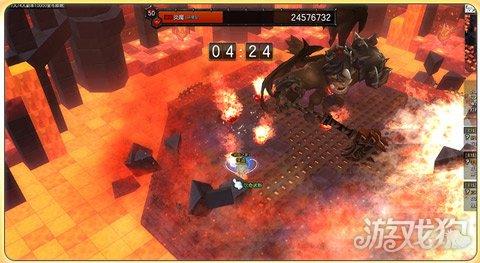 冒险岛2不灭神殿炎魔猎杀教学 按在地上摩擦的小方法