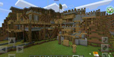 我的世界中式建筑豪放的山寨土匪地图分享