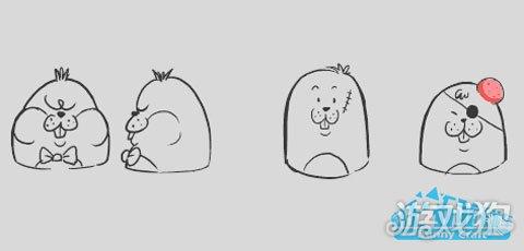 小蝌蚪成长过程简笔画