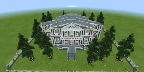 我的世界欧式风格建筑围栏小别墅地图分享