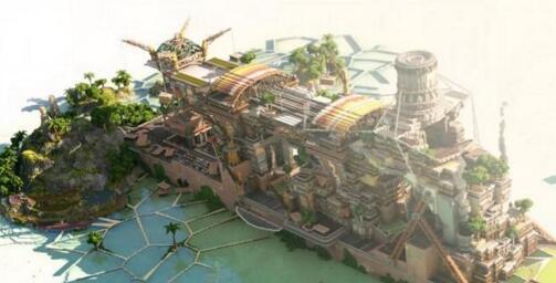 """我的世界Lil Boat海洋绿舟地图存档是一个蒸汽朋克风格的海上巨轮,由作者""""Necrosys""""所制作,该作品是""""BassCrafters Classic""""比赛第四名的作品,整个作品是一个巨大的犹如城市般的游轮,上面种满了绿色植被,犹如一个海洋绿舟一样。"""