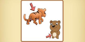 虎和熊猜成语_看图猜成语