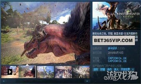怪物猎人世界Steam Bet365标价308元 玩家数量飙升
