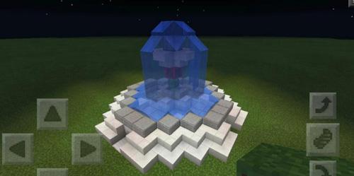 简单好看可控制简易喷泉我的世界制作介绍